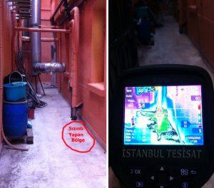 Termal kamera ile kalorifer tesisat borularında kaçak tespiti