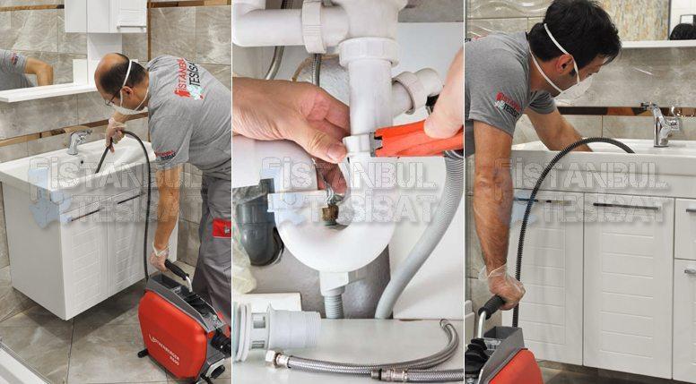 lavabo pimaşını robotla temizleyen usta