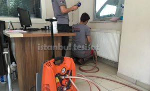robotla radyatör temizleyen tesisat şirketi